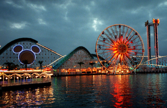 Disney California Adventure in Anaheim is shown in December 2000, two months before its 2001 opening. Theme park fans have speculated for years on whether Disney will open a third park in Anaheim. (File photo by Damian Dovarganes, Associated Press)