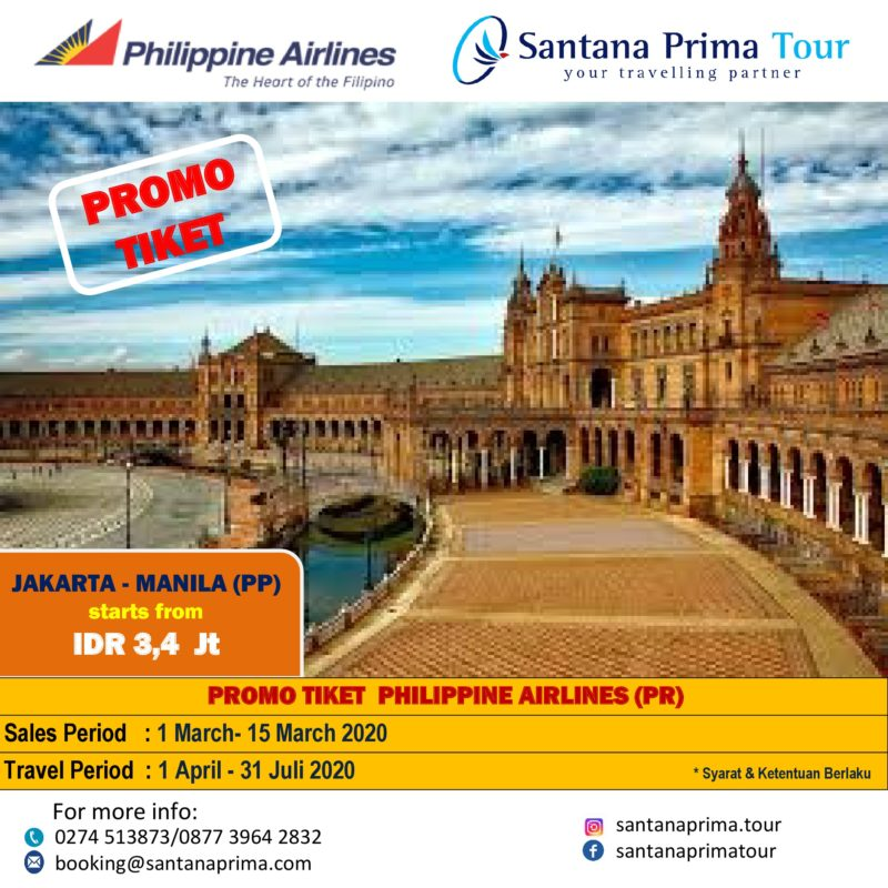 PHILIPPINES AIRLINES- JAKARTA MANILA